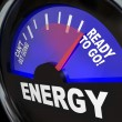 Energy Fuel Gauge Ready to Go - Stock Photo