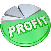 Profit Pie Chart Revenue Split Profits Vs Costs — Stock Photo