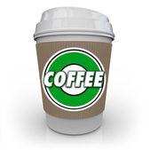 Kaffee plastikbecher morgen java getränk koffein — Stockfoto