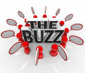 The Buzz Talking in Speech Bubbles Latest News — Stock Photo