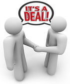 It's a Deal Buyer and Seller Handshake — Stock Photo