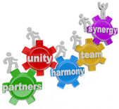 Synergy Partners Working Together in Teamwork for Success — Stock Photo