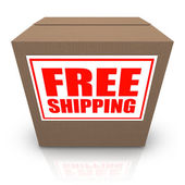 Free Shipping Brown Cardboard Box Order Shipment — Stock Photo