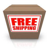 Free Shipping Brown Cardboard Box Order Shipment — Stock Photo