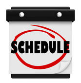 Schedule Word Wall Calendar Remember Appointments — Foto Stock