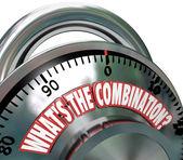 What's the Combination Secret Code Unlock Potential — Stock Photo