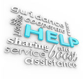 Help Words 3D Background Supportive Terms of Service — Stock Photo