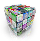 Apps Cube of Application Software Tiles — Stock Photo