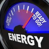 Energie palivoměr připraven jít — Stock fotografie