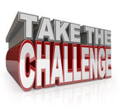 Take the Challenge 3D Words Action Initiative — Stock Photo