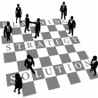 Strategy Solution human chess — Stock Vector