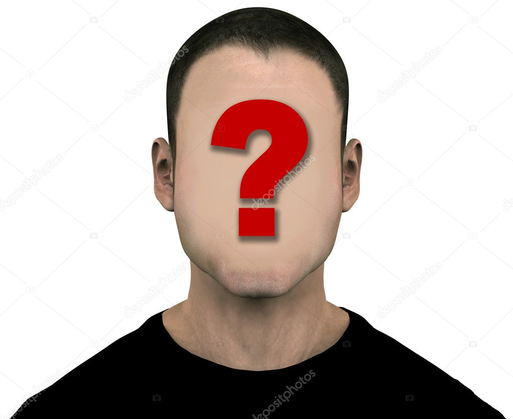 Anonymous Face Question Mark Unknown Generic Man wi...
