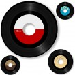 Retro 45 RPM Record Labels Set - Stock Vector