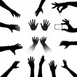 Hands Silhouettes Set — Stock Vector #8141169