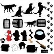 Pet Dog Silhouette Objects - Image vectorielle