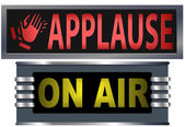 ON AIR & APPLAUSE Theater Broadcasting Studio Signs — Stock Vector