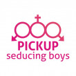 Pickup - seducing boys — Stock Vector