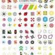 100 Logotypes Collection — Stock Vector