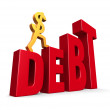 Rising Debt — Stock Photo