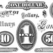 Stock Photo: Set of Vintage Financial Grpahic Elements