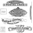 Vintage United States Post Card Elements - Zdjcie stockowe