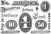 Set of Vintage Financial Grpahic Elements — Stock Photo