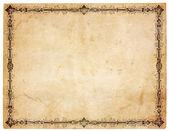 Blanco antieke papier met victoriaanse rand — Stockfoto