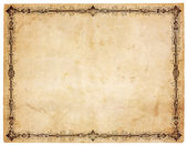 Blank Antique Paper With Victorian Border — Photo