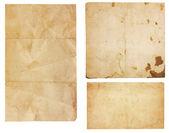 Tres trozos de papel vintage — Foto de Stock