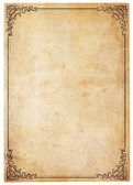 Blank Antique Paper With Vintage Border — Photo