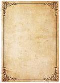 Papier antique blanc avec bordure vintage — Photo