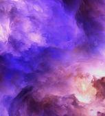 Abstracte genesis wolken schilderij — Stockfoto