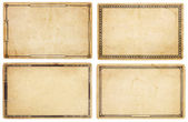 Four Old Cards with Decorative Borders — 图库照片