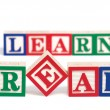 Read And Learn Alphabet Blocks — Foto de Stock