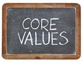 Core values on blackboard — Stockfoto