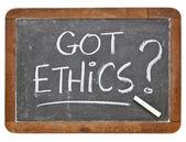 Got ethics question — Stock Photo