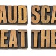 Fraud, scam, cheat and theft — Stock Photo