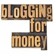 Stock Photo: Blogging for money
