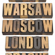 Berlin, Warsaw, Moscow, London and Prague — Stock Photo #10216220