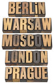 Berlin, Warsaw, Moscow, London and Prague — Stock Photo