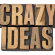 Crazy ideas in letterpress type — Stock Photo #10221699