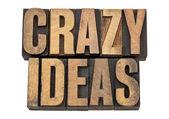 Crazy ideas in letterpress type — Stock Photo