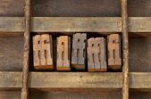 Ligature letterpress printing blocks — Stock Photo