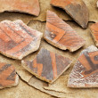 Ancient Anasazi pottery shards — Foto de Stock