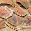 Ancient Anasazi pottery shards — Stock Photo