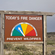 Stock Photo: Fire danger roadside sign in Colorado