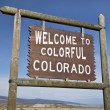Welcome to Colorado roadside sign — Stock Photo