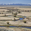 Stock Photo: River meanders in North Park, Colorado