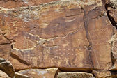 Petroglyphs of NIne Mile Canyon — Stock Photo