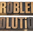 Problem and solution in wood type — Stock Photo